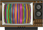 Striped Test Pattern Television