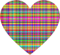 Colorful Checkered Heart Thumbnail