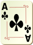 Ornamental deck: Ace of clubs Thumbnail
