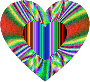 Colorful Refraction Heart Psychedelic 2