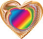 Colorful Refraction Heart 10