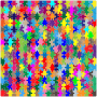 Multicolored Jigsaw Puzzle Pieces