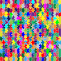 Multicolored Jigsaw Puzzle Pieces No Strokes