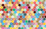 Colorful Hex Grid Pattern