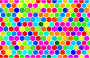 Colorful Hex Grid Pattern 4