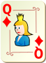 Ornamental deck: Queen of diamonds