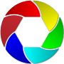 Colorful Shutter Icon Enhanced