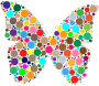 Colorful Circles Butterfly