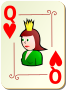 Ornamental deck: Queen of hearts