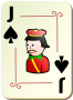 Ornamental deck: Jack of spades