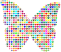 Colorful Hearts Butterfly