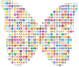Colorful Hearts Butterfly 2