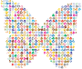 Chaotic Colorful Hearts Butterfly 2