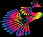 Colorful Stylized Peacock 16