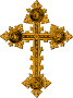 Freestanding cross (gold with detail)
