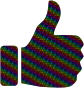 Colorful Peace Thumbs Up Larger Pattern
