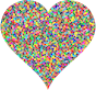 Colorful Confetti Heart