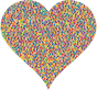 Colorful Confetti Heart 3