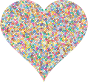 Colorful Confetti Heart 4