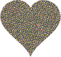Colorful Confetti Heart 6