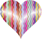 Colorful Wavy Heart