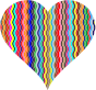 Colorful Wavy Heart 2