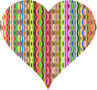 Colorful Wavy Heart 3