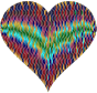 Colorful Wavy Heart 6