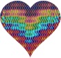 Colorful Wavy Heart 7