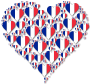 Heart France Fractal With Shadow