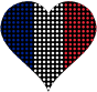 Heart France Flag Circles