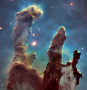 Pillars of Creation (oil painting effect)