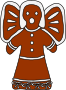 Gingerbread Angel (with bows)