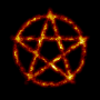 Burning pentagram (reduced file size)