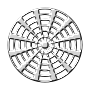 Radial design (silver)