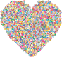 Colorful Mosaic Heart