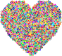 Colorful Mosaic Heart 3