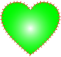 Heart EKG Rhythm Green