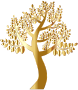 Simple Gold Tree Without Background