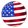 USA Flag Sphere Enhanced With Drop Shadow