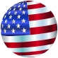 USA Flag Sphere Enhanced 2