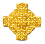 Celtic-inspired design (gold)