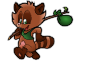 Happy Tanuki 2 (without background)