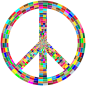 Prismatic Peace Sign