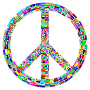 Prismatic Peace Sign Enhanced 2