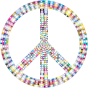 Prismatic Peace Sign 3