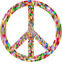 Prismatic Peace Sign 4
