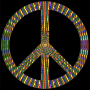 Prismatic Peace Sign 17