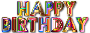 Happy Birthday Typography With Drop Shadow