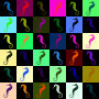 Seahorse pattern (multicoloured)